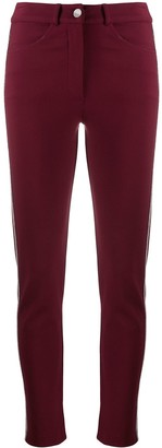 D-Exterior Mid-Rise Skinny Trousers