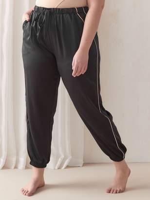 Pajama Jogger with Piping Detail - Ashley Graham