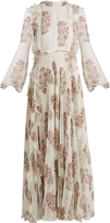 Giambattista Valli Floral-print ruffled silk-chiffon dress