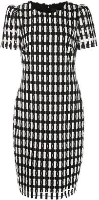 Badgley Mischka Check Patterned Dress