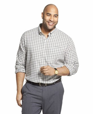 Van Heusen Men's Big & Tall Tall Flex Long Sleeve Button Down Stretch Shirt