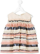 Pamilla Kids - sequin striped top - kids - Polyester/Spandex/Elastane/polyester - 4 yrs