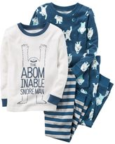 "Carter's Toddler Boy 4-pc. ""The Abominable Snore Man"" Tops & Pants Pajama Set"