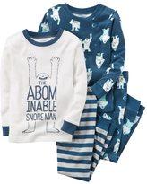 "Carter's Toddler Boy 4-pc. ""The Abominable Snore Man"" Tops & Pants Pajama Set"