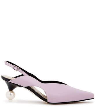 YUUL YIE Doreen 75 lilac slingback leather pumps