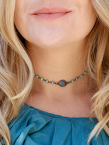 Natalie B Jewelry Buried Treasure Athena Choker in African Opal / Labradorite