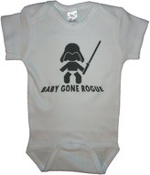 Handmade 4 Babies Star Wars Parody Baby Gone Rogue Romper Size 0-6 Months