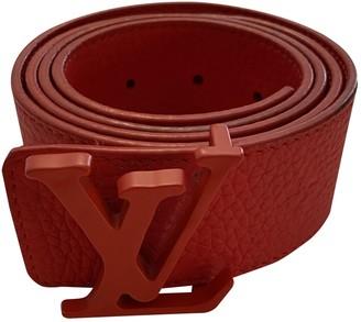 Louis Vuitton Shape Red Leather Belts