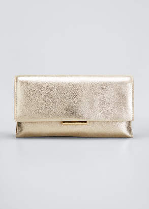 Loeffler Randall Tab Metallic Leather Clutch Bag