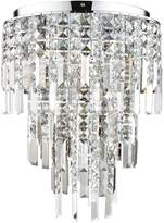 Luxe Collection Filini Square Cut 3 Tier Crystal Pendant Light