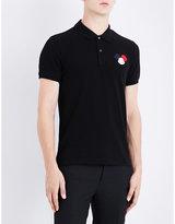 Moncler Logo-detail cotton-piqué polo shirt