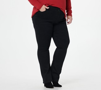 NYDJ Slim Bootcut Jeans - Black Rinse