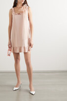 Thumbnail for your product : RED Valentino Ruffled Crepe And Point D'esprit Tulle Mini Dress - Pink