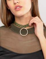 Asos Chain Toggle Choker Necklace