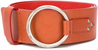 1990 Metal Ring Leather Belt