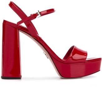 Prada Chunky-Heel Platform Sandals