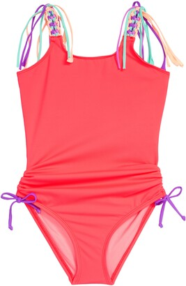 Heart And Harmony Macrame Strap One-Piece Swimsuit