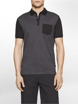 Calvin Klein Slim Fit Colorblock Mercerized Polo Shirt
