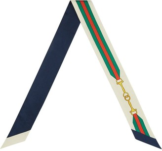 Gucci GG Horsebit skinny scarf