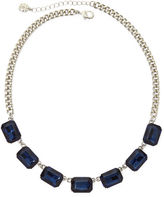 JCPenney MONET JEWELRY Monet Blue Crystal Silver-Tone Collar Necklace