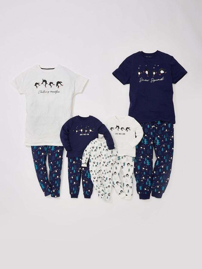Very Unisex BabyFamily Christmas Penguin Sleepsuit - White