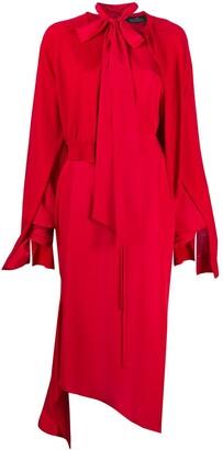Rokh asymmetric draped dress