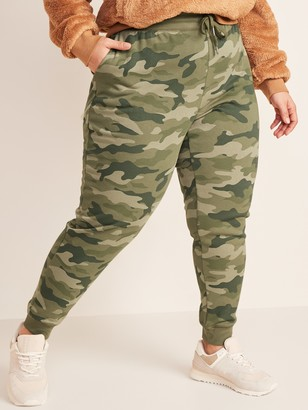 Old Navy Mid-Rise Printed French Terry Plus-Size Jogger Sweatpants