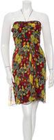 Anna Sui Silk Halter Dress