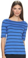 Apt. 9 Women's Essential Striped Boatneck Tee