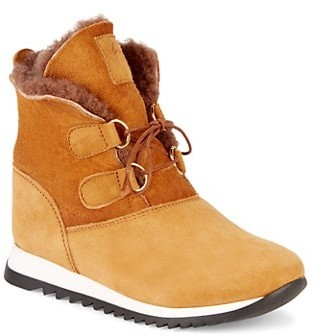 Giuseppe Zanotti Girl's Suede Shearling-Lined Velour Sunrise Boots