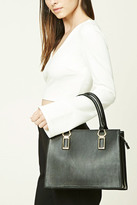 Forever 21 FOREVER 21+ Faux Leather Satchel Bag
