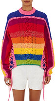 Spencer Vladimir Women's Striped Lace-Side Sweater