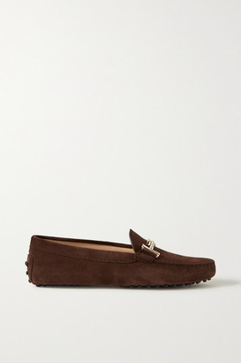 Tod's Gommino Suede Loafers - Dark brown