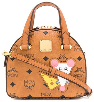 MCM Patch-Embellished Monogram Tote