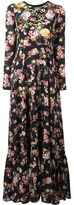 Antonio Marras rose embroidered floral dress - women - Polyester - 42