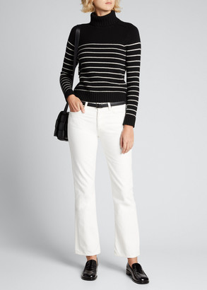 Nili Lotan Molly Stripe Turtleneck Cashmere Sweater