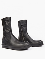 Rick Owens Black Leather Basket Creeper Boots