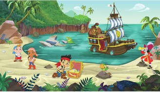 York Wall Coverings Disney's Jake and the Never Land Pirates Removable Wallpaper Mural