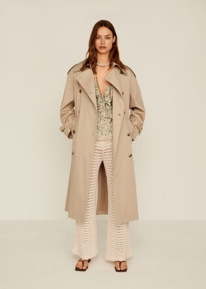 MANGO Double breasted trench beige - XS - Women