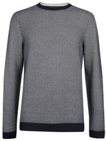 Burton Burton Navy Zig Zag Pattern Knitted Jumper