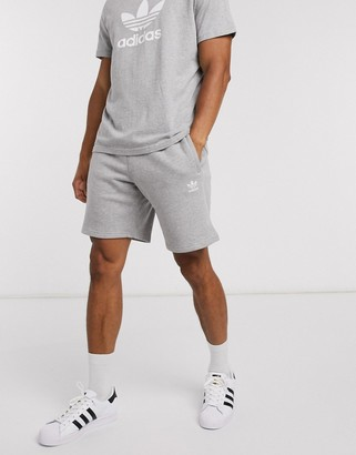 adidas essentials shorts in gray