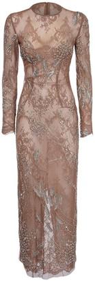 Yolancris Embellished Sequin & Lace Long Dress