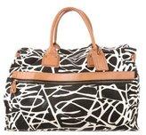 Diane von Furstenberg Leather Trimmed Weekender Bag
