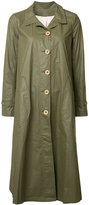 Deep Moss - button up raincoat - women - Polyethylene - L