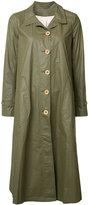 Deep Moss button up raincoat