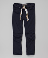 Eddie Bauer Navy Belted Pants - Girls