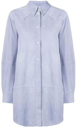 Etoile Isabel Marant Oversized Leather Shirt