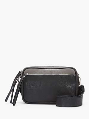 Mint Velvet Heidi Tassel Camera Bag, Black/Silver
