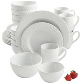 Gibson Select Knollview Embossed Ceramic Dinnerware 30-pc. Set - White