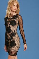 Forever 21 FOREVER 21+ Semi-Sheer Floral Bodycon Dress